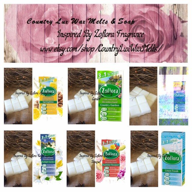 Handmade Soy Zoflora Country Garden Scented Wax Melts