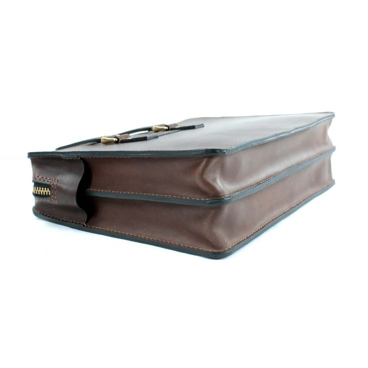 2102 top open leather briefcase - 13