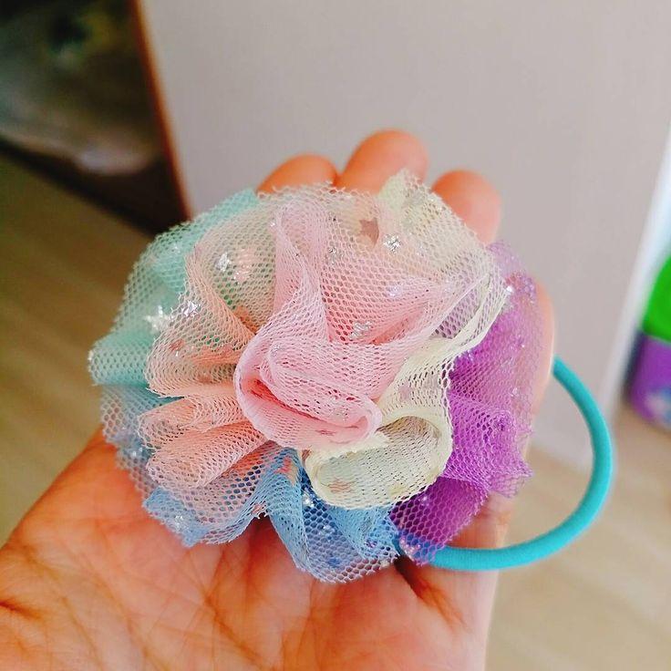 ふんわり可愛い♡チュールリボン・チュールゴムで春のヘアアクセ | Handful