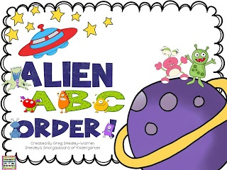 Using aliens to practice ABC order!
