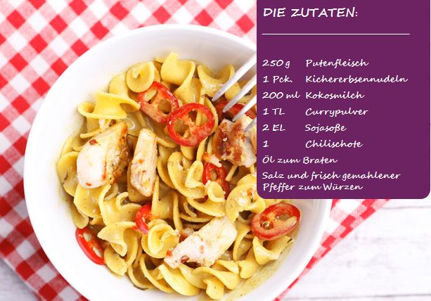 BodyChange Curry-Nudelsalat mit Putenfleisch (Fitness Food Week)