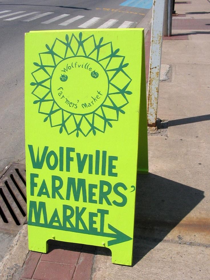 Wolfville Farmers' Market (http://www.wolfvillefarmersmarket.ca/)