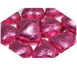 A bulk 1kg bag of Dolci Doro Pink Chocolate Hearts.