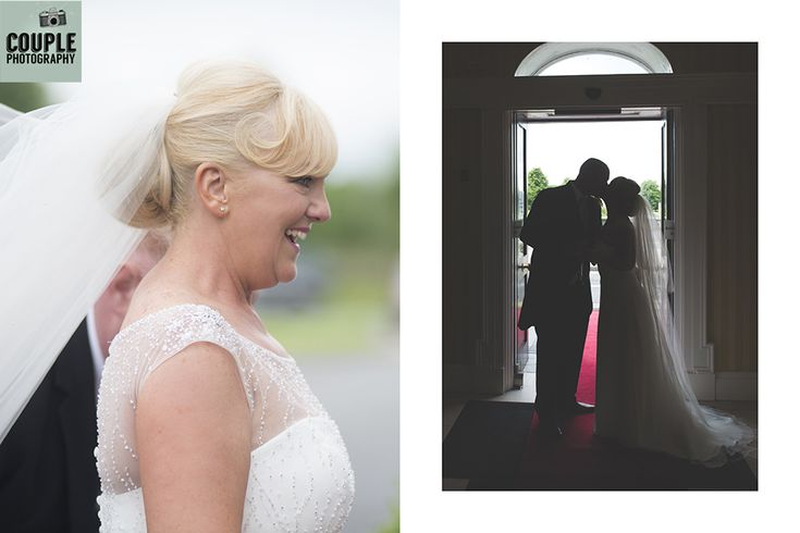 Candid shots as the bride & groom arrive at their reception. Weddings at The Johnstown Estate, photographed by Couple Photography.