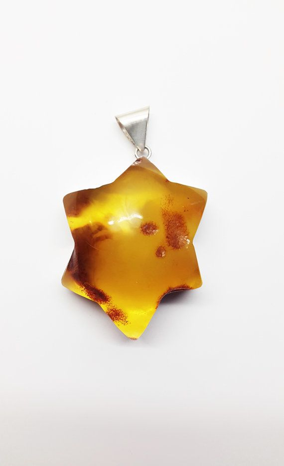 Baltic amber pendant star 73g by AmberLovers20 on Etsy