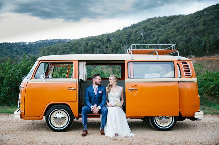 Orange Kombi Van Wedding