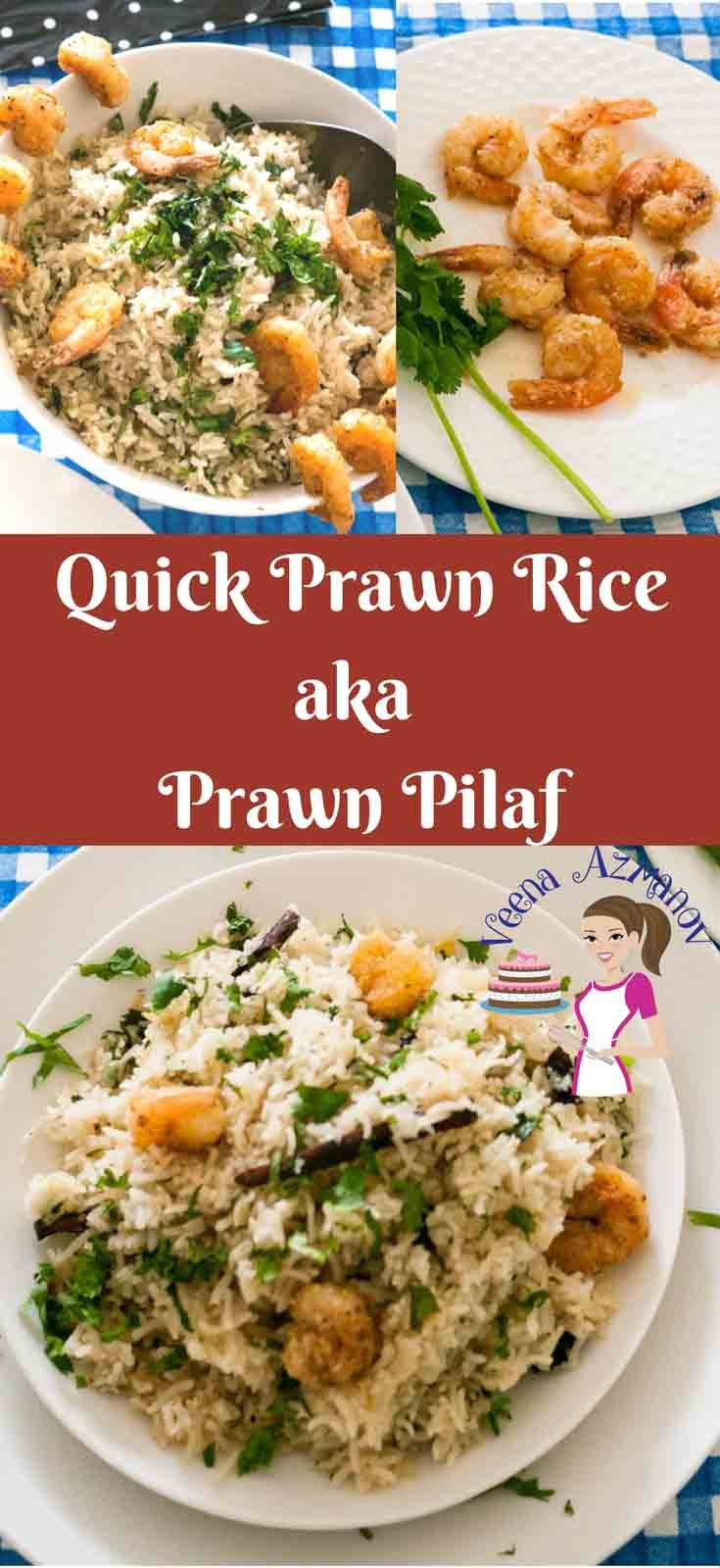 One of my time saving and fun meal is this quick prawn rice, it's the quickest meal you can make for your family in 20 minutes. A delicious Indian Prawn Pilau recipe is a perfect one pot meal and a blessing to busy and working moms like me. Prawn Pulao, Prawn Pilaf, Prawn Rice Recipe, Fragrant Rice recipe with prawns, prawn rice, One pot rice recipe