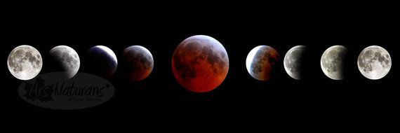 Red Moon Eclipse Phases Goddess High Quality Photo by ArsNaturans