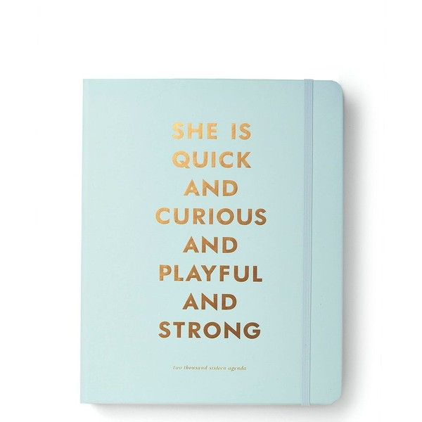 Kate Spade 2016 17-Month Large Agenda- Quick And Curious ($36) ❤ liked on Polyvore featuring home, home decor, stationery and filler