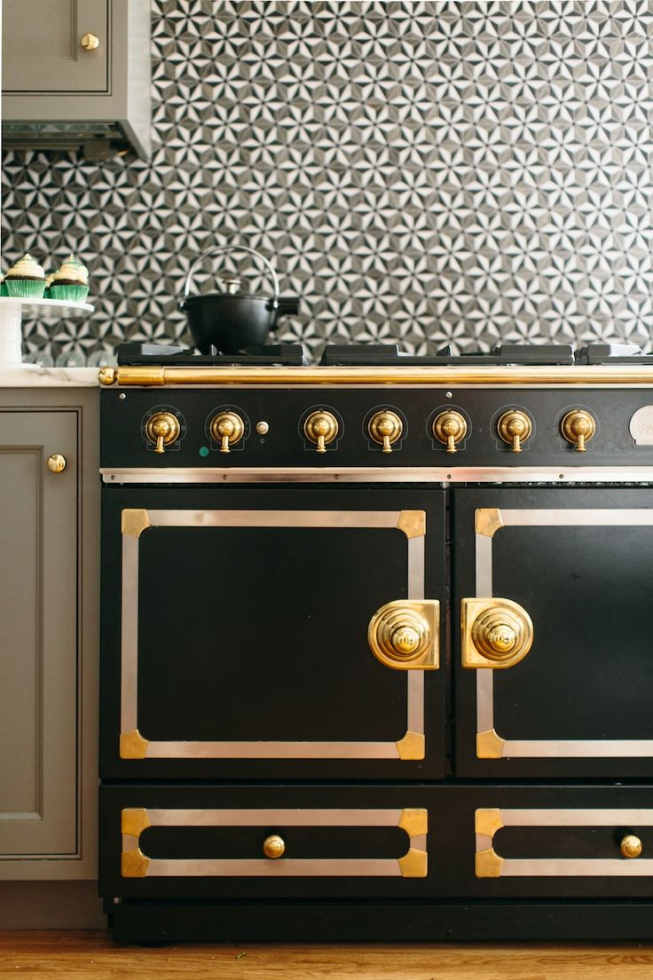 Kitchen With A Dreamy Black And Gold Oven Part 81