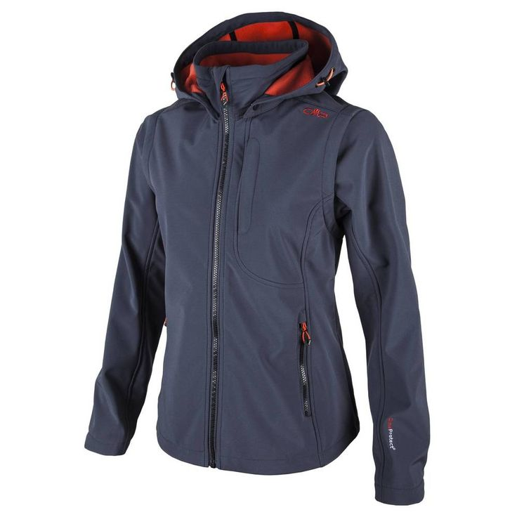 WOMAN SNAPS HOOD JACKET WITH DETACHBLE SLEEVES, Abbigliamento sportivo uomo CMP Campagnolo