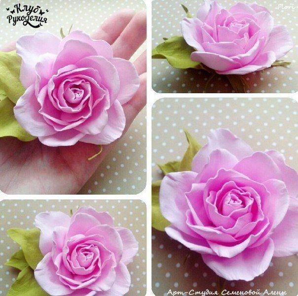Роза из фоамирана фото #1