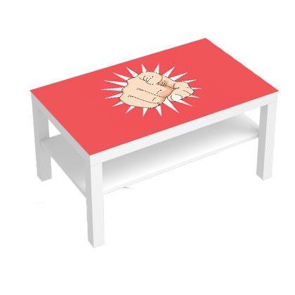 stickers pour table basse lack 90x55 finger sticker deco design stickers pour meuble. Black Bedroom Furniture Sets. Home Design Ideas
