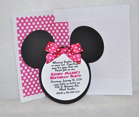 Minnie Mouse invites.