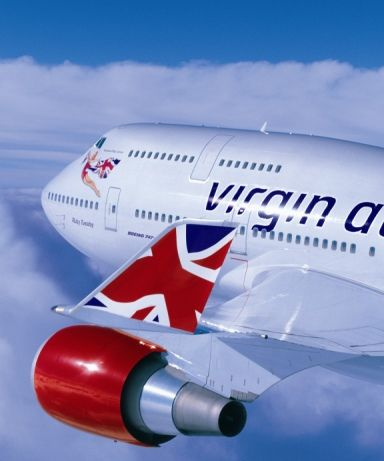 Virgin Atlantic 747 - 400. I would love to know how this picture was taken. I've always wanted to fly this airline, but never had the chance...yet.