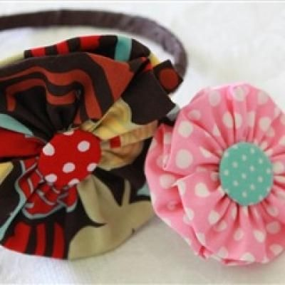 Flower Headband and Hair-clip Tutorial {Crafts to Do}