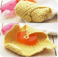 LILY® SUGAR'N CREAM® CROCHET SOAP COZY- very nice gift idea. I could