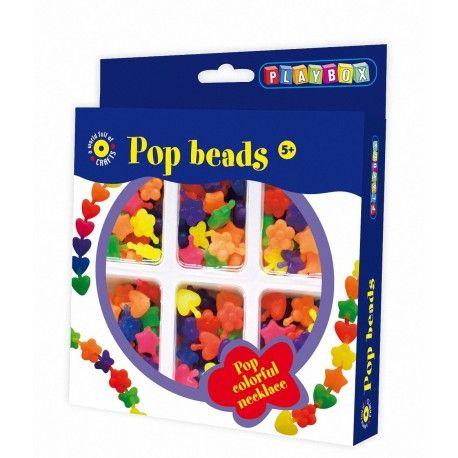 Gioco creativo giocattolo set kit bijoux con perline a incastro pop