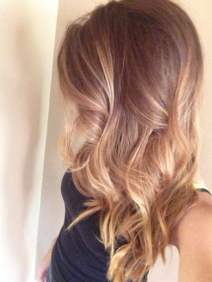 balayage hairstyles hair color: lovely caramel colour with blonde highlights