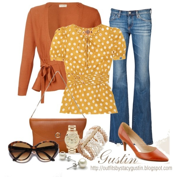 Great Colors for super cute casual style. (Not usually a polka dot fan, but I just love it here!)