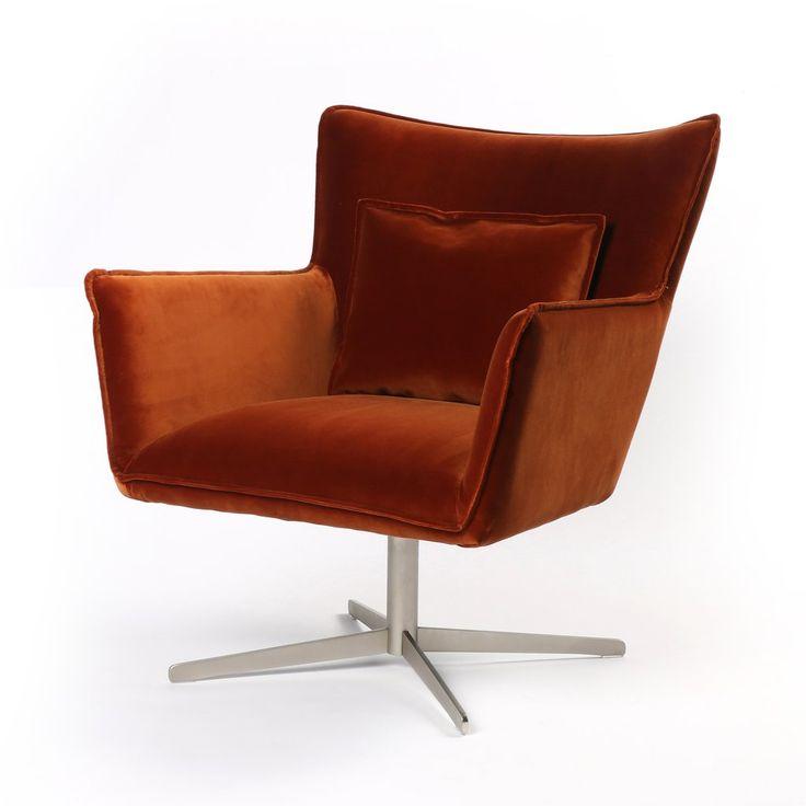 Jacob swivel chair in soft velvet sienna in 2020 swivel