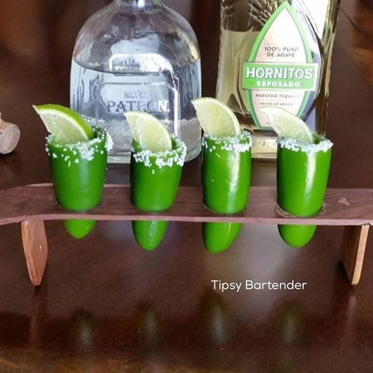 Spicy Tequila Shots - For more delicious recipes and drinks, visit us here: www.tipsybartender.com