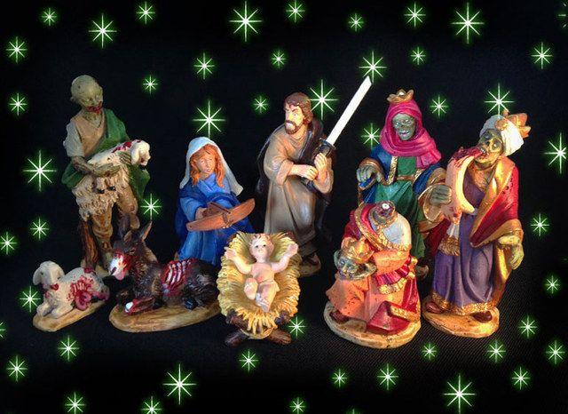 Silent Night Of The Living Dead Zombie Nativity Scene