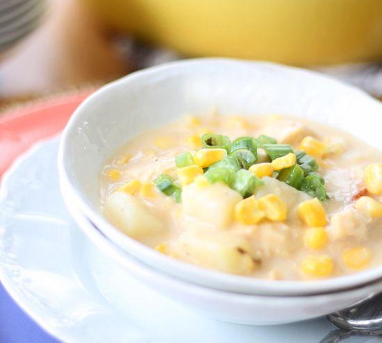 Creamy Corn & Potato Chowder – Lightened Up
