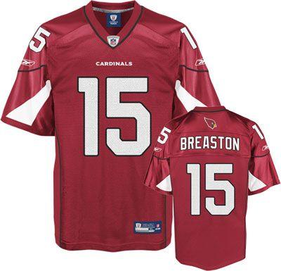 Reebok Arizona Cardinals Steve Breaston 15 Red Authentic Jersey Sale