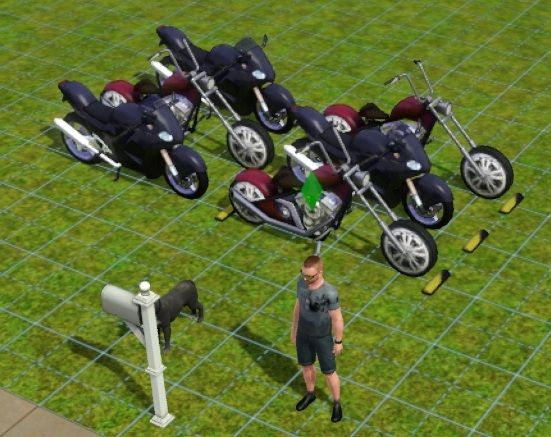 Motorcycle Parking Space : Best images about the sims objects clutter on