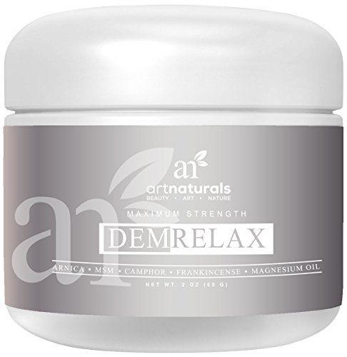 Art Naturals Crème Demrelax Pour Soulagement De La Douleur 59ml – Aide à soulager les douleurs articulaires, musculaires, du dos et du cou…