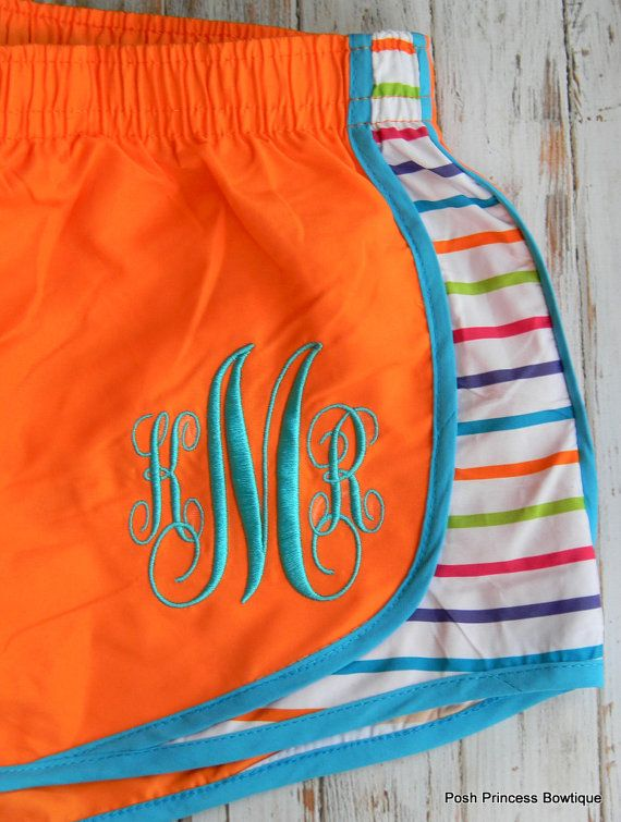 Monogrammed Running Shorts, Perfect for Summer at $24 with coupon code: yellowfriday. 20% at Posh Princess Bowtique all weekend long. Shop more deals at www.thechirpingmo...