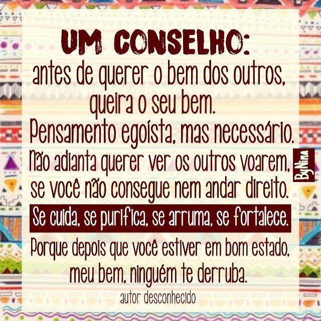 Recado dado! Bom domingo pessoas! #frases #autoestima #amorpróprio #acorda #autordesconhecido #instabynina