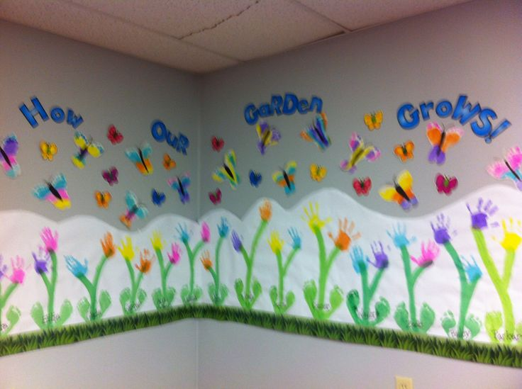 Spring Quot This Is How Our Garden Grows Quot Handprint Flowers