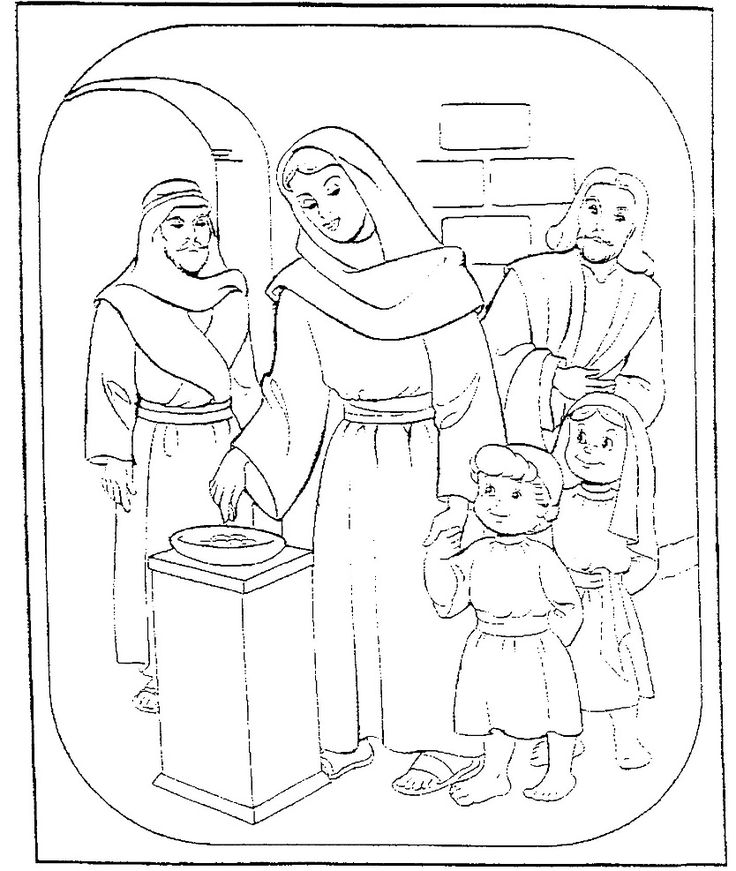 The Widows Mite Coloring Page Preschool