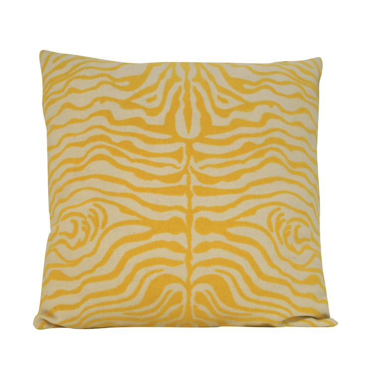 ZEBRA YELLOW Pillow #yellow #zebraprint #summer