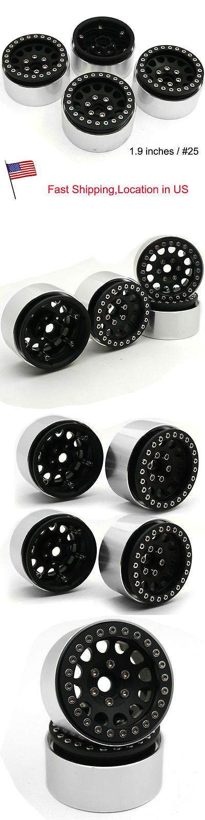Wheels Tires Rims and Hubs 182201: 4Pcs 1.9 Alloy Beadlock Wheel Rims For Axial Scx10 D90 Cc01 1 10 Rc Crawler Us -> BUY IT NOW ONLY: $55.1 on eBay!