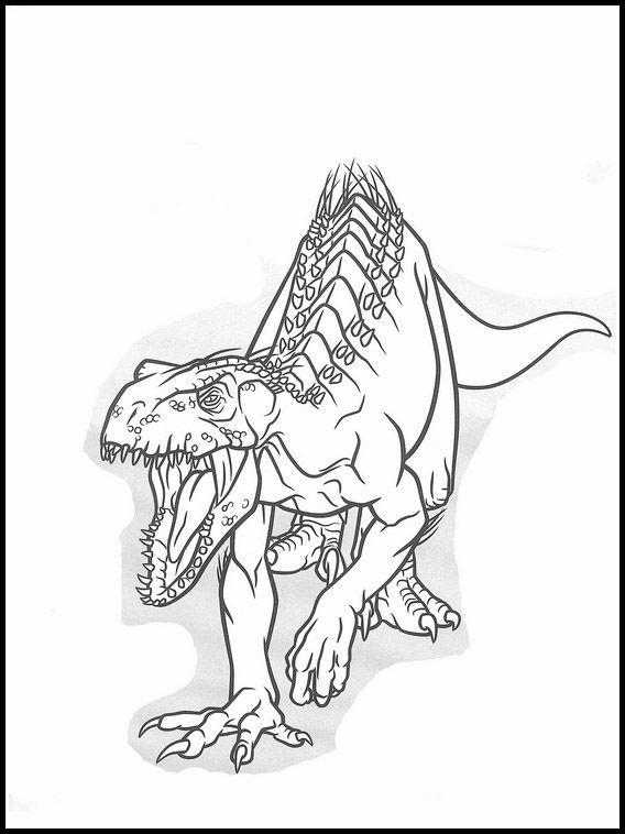 Jurassic World T Rex Dinosaurios Para Colorear   Paginas ...