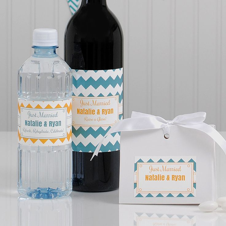 DIY brides  pick two wedding colors and make your own contrasting wedding  water bottle labels21 best Wedding Water Bottle Labels images on Pinterest   Water  . Diy Wedding Water Bottle Labels. Home Design Ideas