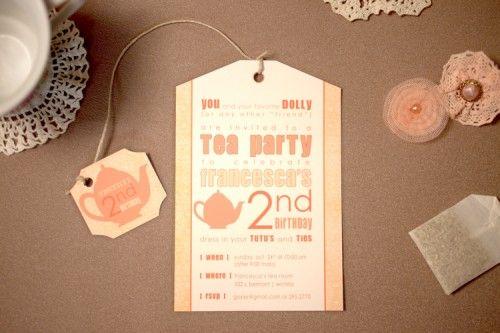 cute idea: tea bag tea party invitation