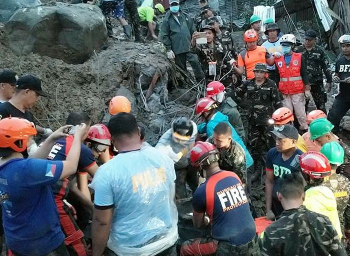 Thank you to the members of the Philippine Army Engineering Battalion and Reserves, as well as members of the Tacloban City PNP and other volunteers who helped in the rescue and retrieval operations in the landslide that occured in Brgy 43-B,  Quarry District, Tacloban City. We also condole with the families and loved ones of the casualties of this tragic incident.