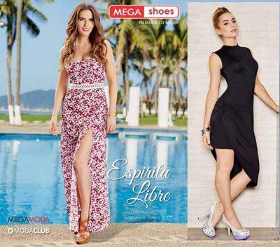 Mega Moda Catalogo de Ropa 2017 Mujer. Hay vestidos, blusas, shorts, faldas, palazzo,