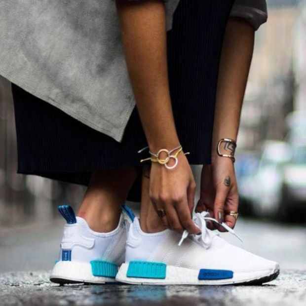 """Women """"Adidas"""" NMD Boost Fashion Trending White Leisure Running Sports Shoes"""
