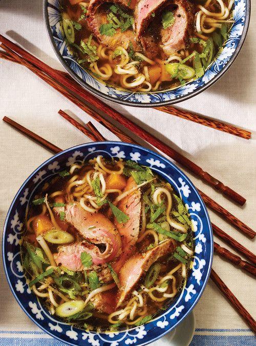 Soupe aux nouilles ramen et au boeuf Recettes | Ricardou Doubler le soya et la sauce poisson et ajouter du sherry xérès pour ajouter du goût