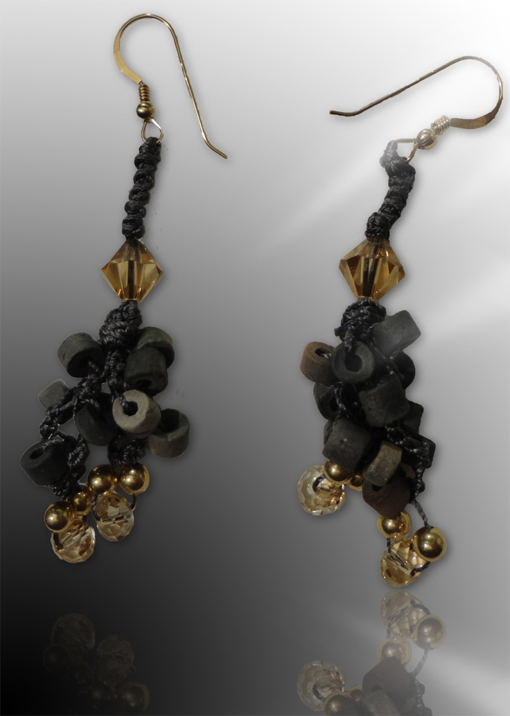 Golden Sun: Wear these handcrafted earrings by BRizzy with a feminine glamour accented the elegance.