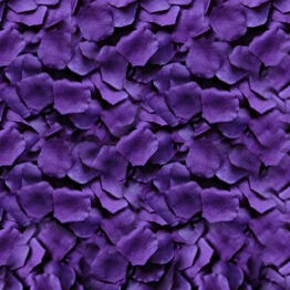 """Looking for a certain color?  Freeze dried rose petals not in your budget?  Silk rose petals may be the answer!These are high quality purple silk rose petals made from a micropeach polyester fabric to give them a realistic look, weight and feel.  The petals measure from 1 3/4"""" to 2 1/4"""" in diameter (no small petals) and have a nice curved shape to them.  Each bag contains 100 petals.Colors displayed on the following pages may not match the exact color of the petals due to variances in…"""
