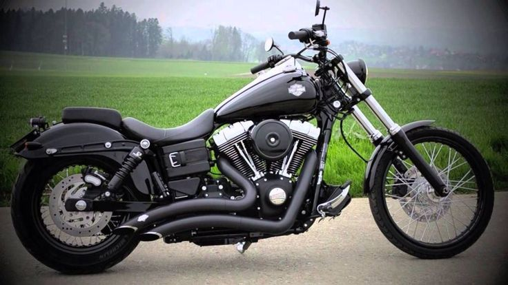 Black Dyna Wide Glide