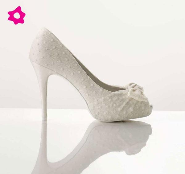 scarpe sposa con fiori