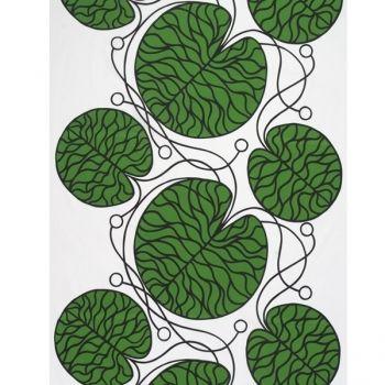 Bottna kangas, vihreä  Marimekko Design: Anna Danielsson