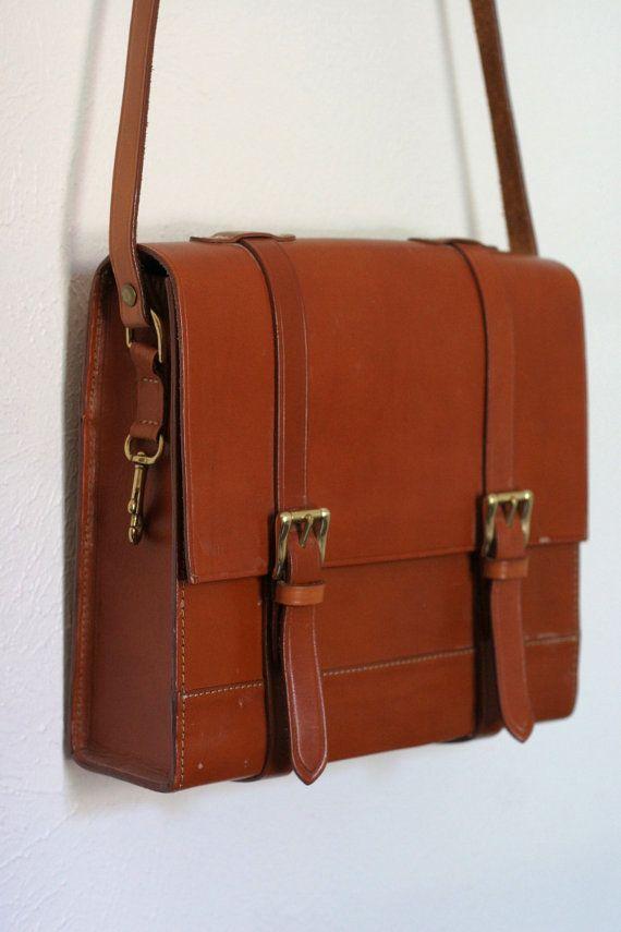 Joan & David Leather Satchel  Messanger Bag  Purse  by dingaling, $78.00